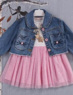 Dječja haljina til i jeans jakna