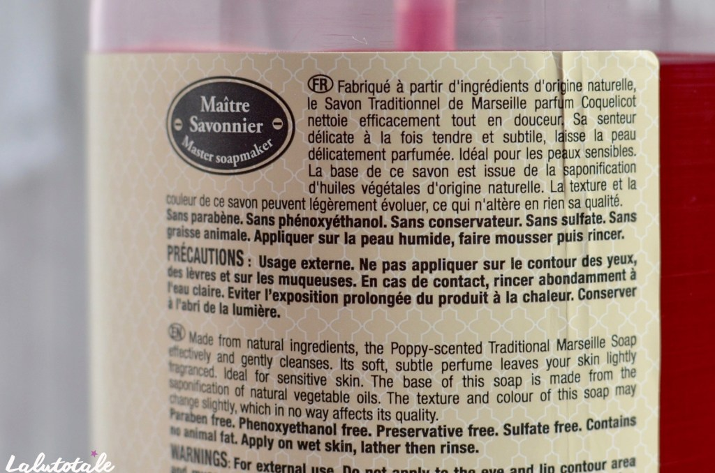 comptoir bain coquelicot savon traditionnel marseille