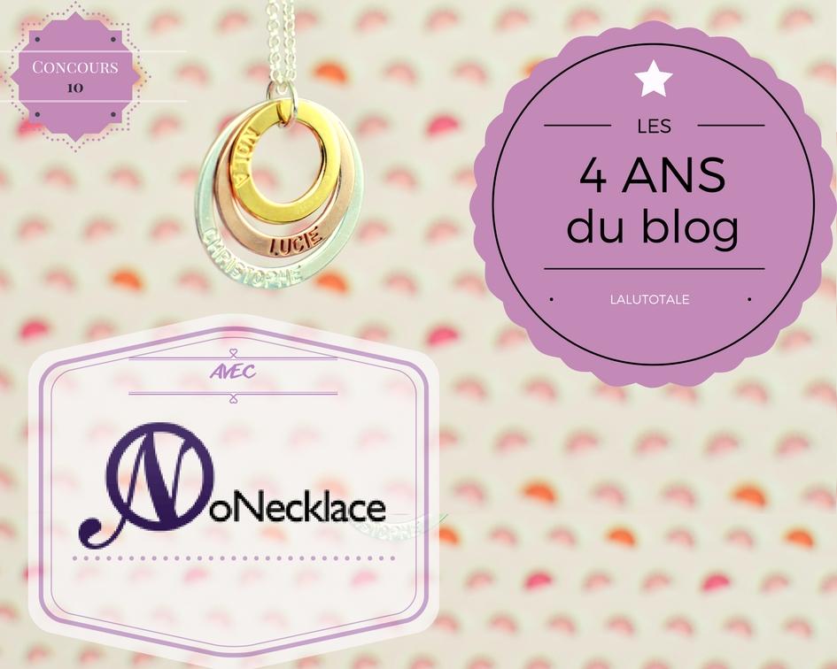 concours gratuit bijou personnalisé ONecklace collier bracelet