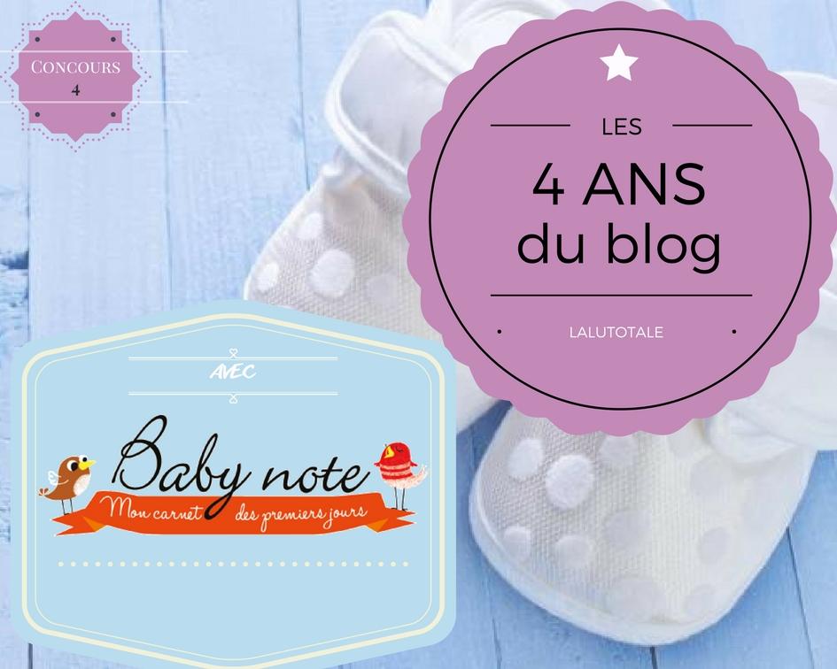 babynote carnet diversification alimentaire anniversaire concours gratuit blog