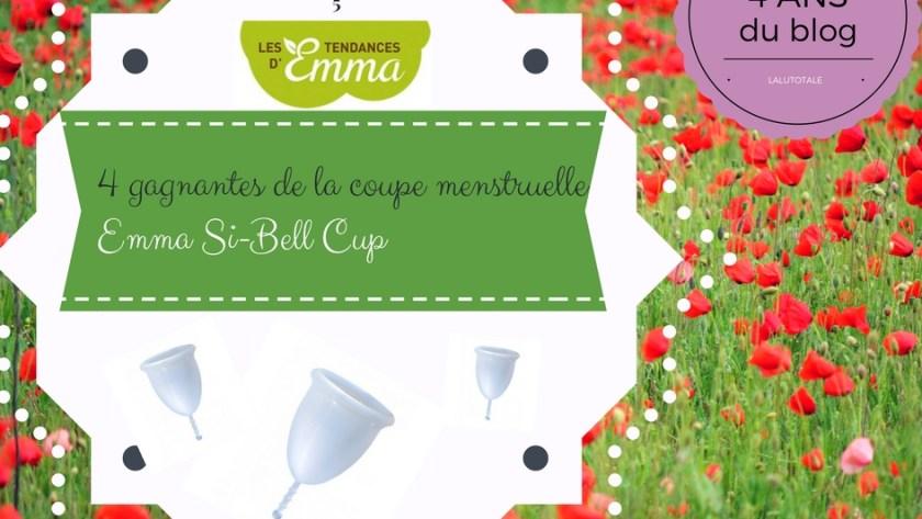 🌳 4 ans du blog 🍃 Emma Si-Bell Cup, la coupe ( menstruelle ) des championnes signée les Tendances d'Emma
