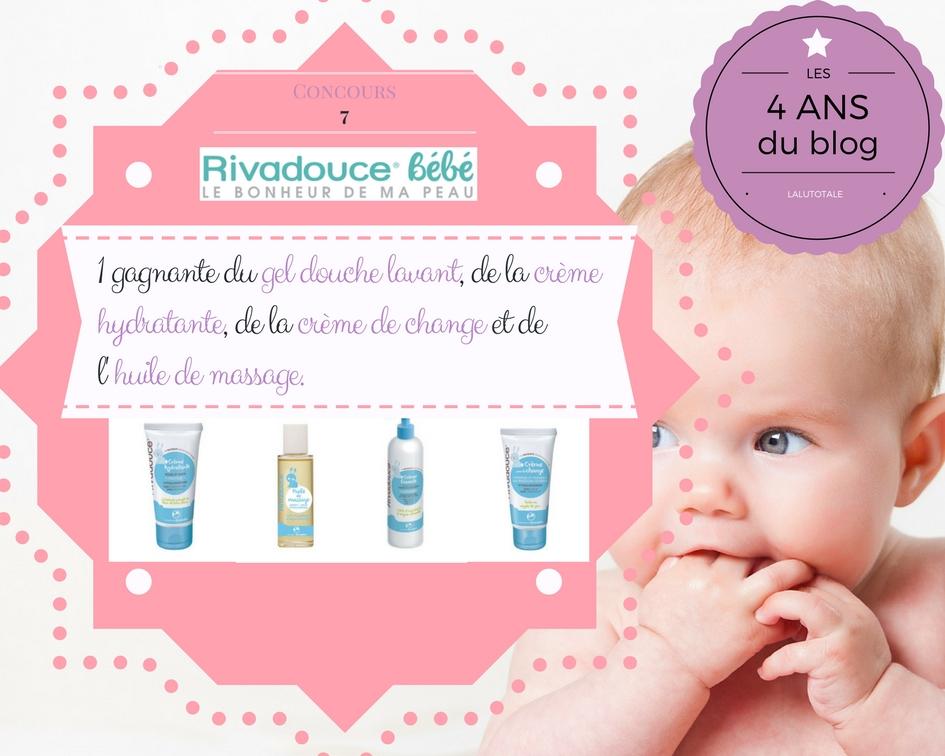 concours gratuit blog bébé Rivadouce Rivadis Cocréatrices