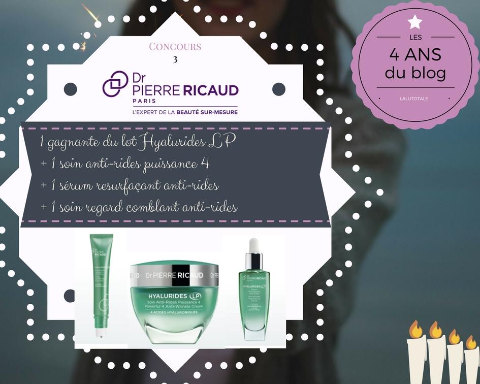 blog anniversaire concours gratuit beauté Ricaud antirides hyaluronique