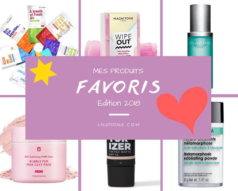 favoris beauté produits année 2018 cosmétiques