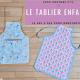( Tuto COUTURE ) Le tablier à poche de cuisine / peinture/ jardinage de LaLutine 🎨👩🍳🌼