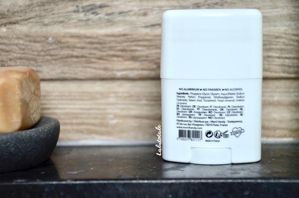 Merci Handy composition déodorant Namaste clean