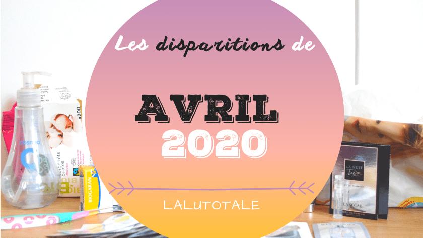 ✞ Les disparitions dans ma salle de bains en Avril 2020 ✞