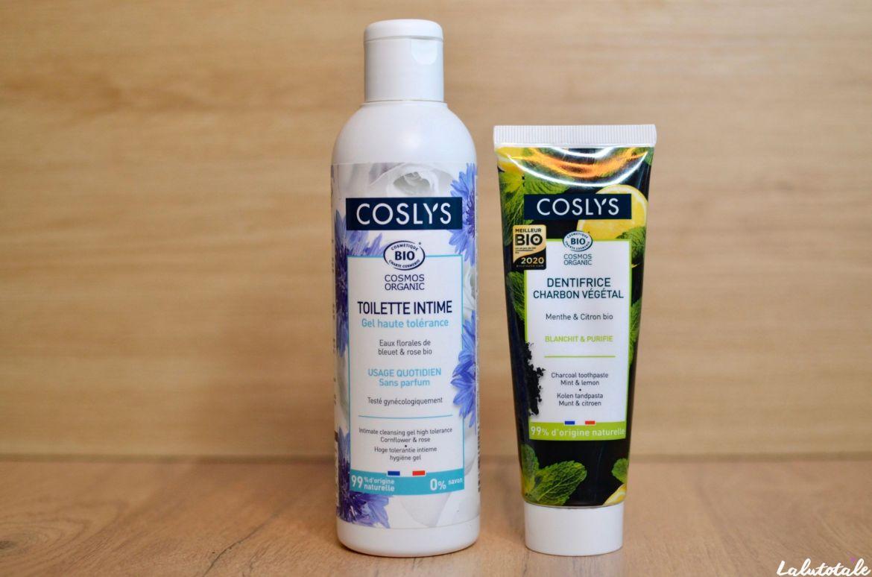 coslys hygiène bio gel intime dentifrice charbon