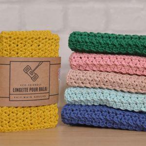 Thérèse serpillière lavable fait main crochet handmade