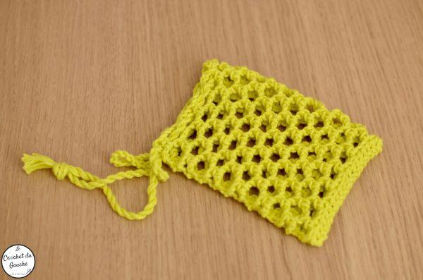 Crochet soap saver savon Michel