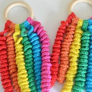 hanky original anneau dentition bois crochet