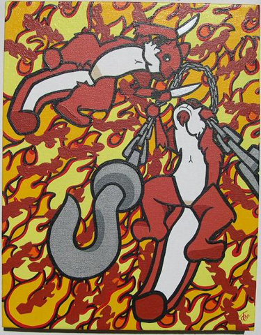 "14"" x 11"" Acrylic on Canvas Sold"
