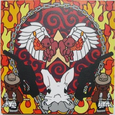 """16"""" x 16"""" Acrylic on Canvas"""