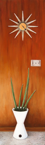 "9' x 28"" unframed 10"" x 29"" framed Oil on canvas"