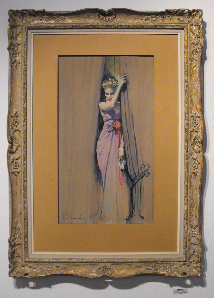 """by Frances Parkinson Keyes (1959) Oil and gouache on board 15"""" x 27.5"""" in 43.5"""" x 31"""" frame $5,400.00 Sold"""