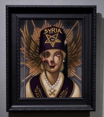 "Acrylic on wood 20"" x 24"" in 22"" x 26"" frame $2,240.00"