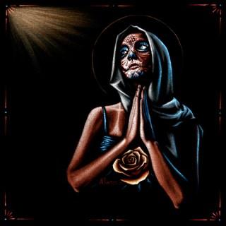 """Acrylic on black velvet 18"""" x 18"""" $700.00 Sold"""
