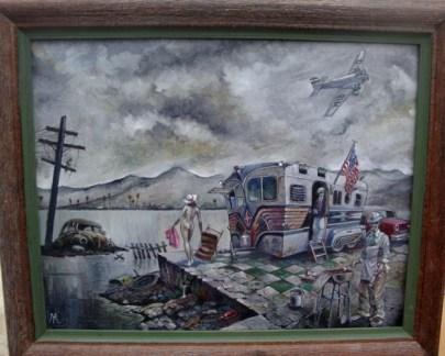 """Oil on masonite 14"""" x 11"""" in 16"""" x 13"""" frame $700.00 Sold"""