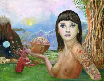 "Oil on canvas 14"" x 11"" $600.00"