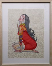 """Collaged, hand-made relief print on paper 12"""" x 16"""" in 20.5"""" x 28.25"""" frame $800.00"""