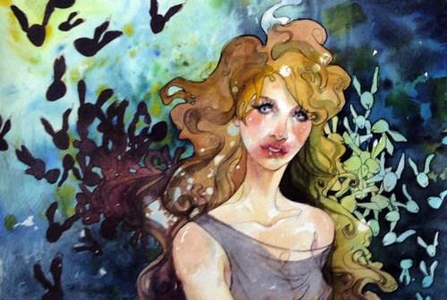 """Watercolor on 300LB coldpress Rives BFK 16"""" x 9"""" in 19"""" x 13"""" frame $550.00 Sold"""