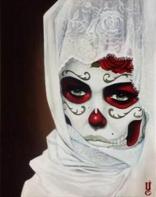 "Acrylic on canvas 19.75"" x 23.75"" $550.00 Sold"