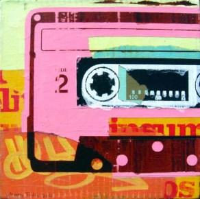 "Acrylic and mixed-media on canvas 9"" x 9"" $150.00"