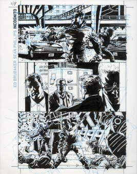 "Issue #1, Page 8: Overkill Origins Ink and blue-line on board 11"" x 17"" $700.00"