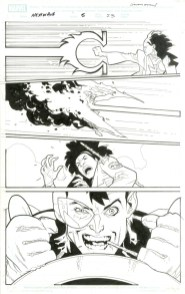 """Issue #5, Page 23: Dirk Anger on a Rampage Graphite and ink on board 11"""" x 17"""" Sold"""
