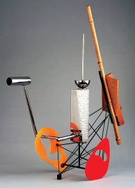 """Stainless steel, bamboo & hinoki 38.25"""" x 15.5"""" x 26.5"""" $17,000.00"""