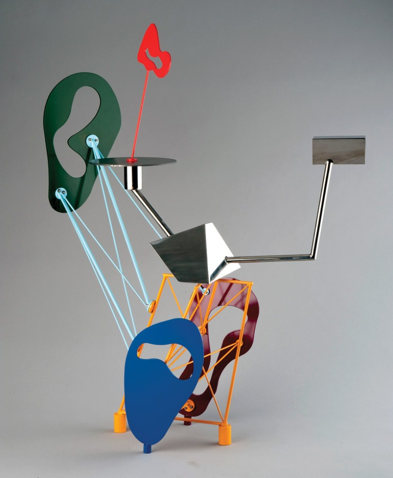 """Stainless steel and enamel 33.75"""" x 14.5"""" x 25.5"""" $17,000.00"""