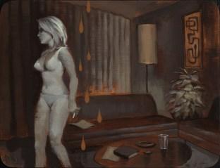 """Acrylic on wood 12"""" x 9"""" $2,800.00"""