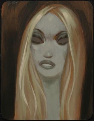 """Acrylic on wood 9"""" x 12"""" $2,600.00"""
