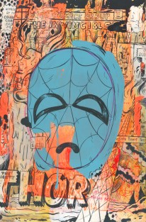 """Mixed painted media on panel 13.5"""" x 20.5"""" $1,400.00"""