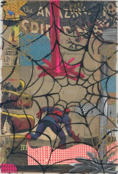 """Mixed media collage on paper 6.75"""" x 10.25"""" $400.00 Sold"""