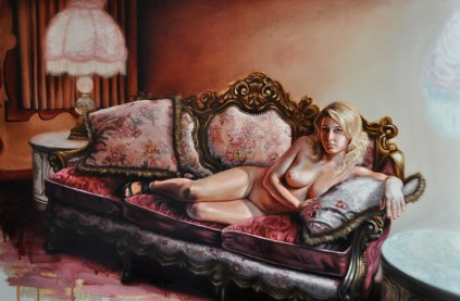 "Oil on canvas 48"" x 32"" $3,800.00"