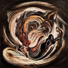 """Kaolin clay on clayboard panel 24"""" x 24"""" $5,000.00"""