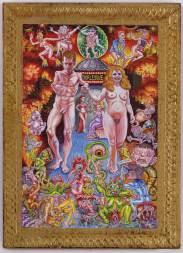 "Acrylic on found panel 5 1⁄8"" x 7 1⁄8"" $38,000.00 Courtesy of Simon Dickinson Gallery."