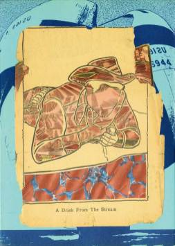 """Collage on paper 9"""" x 13"""" $500.00"""