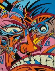 """Acrylic on canvas 16"""" x 18"""" $7,000.00"""