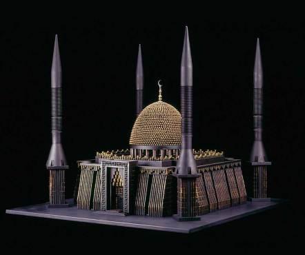 "Tank-killer missiles, bullets, brass, steel, trigger 25"" x 29"" x 31"" $75,000.00 Courtesy of Catharine Clark Gallery"