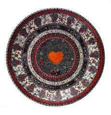 """Hand-painted low-fire wheel-thrown platter 22.5"""" x 4"""" $8,000.00 Sold"""