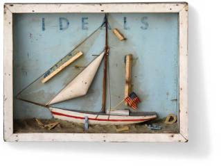 "Found object and mixed media 15"" x 11.5"" x 3"" $1,250.00"