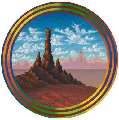 "Acrylic on canvas 20"" diameter $2,500.00"