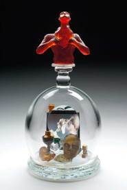 """Blown and cast glass, found objects, original video 16"""" x 8"""" x 8"""" $8,000.00"""