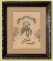 "Graphite on antique paper 5.5"" x 8"" $1,500.00 Sold"