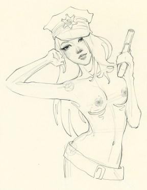 Danni Shinya Luo - Cop Girl Sketch
