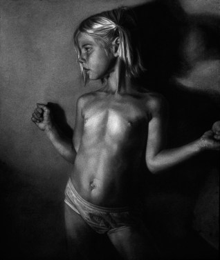 Annie Murphy-Robinson - Casey and the Red BallCharcoal on paper 35 x 42 in. (42.5 x 49.75 in. framed) $4,200