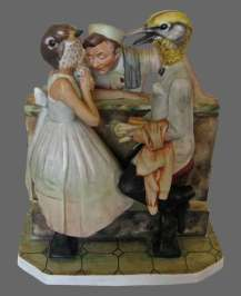 Click Mort - Birds at a Soda FountainPorcelain and epoxy, 6.75 x 5.75 x 4 in., $500.00 Sold