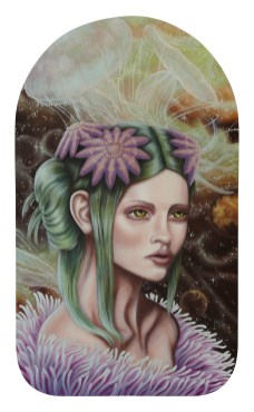 """David Natale – Io and Callisto 11.25 x 19.25"""" in 14.5 x 22.75"""" frame, Oil on wood panel $450.00 Sold"""